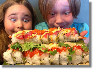 Kids love Simply Sushi